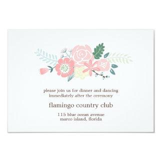 Modern Floral Wedding Reception Card 9 Cm X 13 Cm Invitation Card