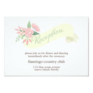 Modern Floral Wedding Reception Card Announcement
