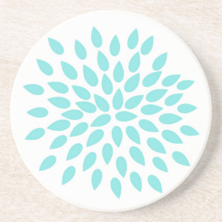 Modern Flower Beverage Coaster