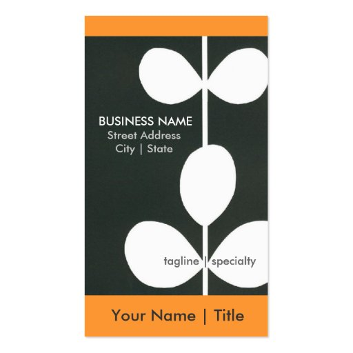 Modern Flower Business Cards