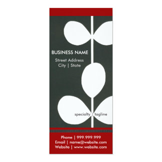 Modern Flower Business Pamphlet 10 Cm X 24 Cm Invitation Card