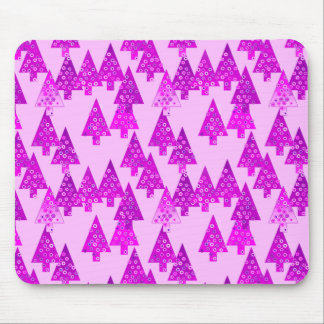 Modern flower Christmas trees - orchid Mousepad