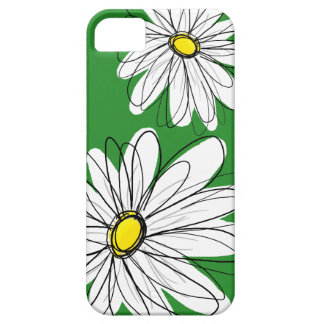 Modern Flower Drawing - green yellow Barely There iPhone 5 Case