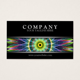 Modern Flower Eye Mandala Business Card