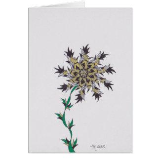 modern flower j get well soon greeting card