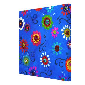 MODERN FLOWERS LA VENTANA ABSTRACT ART CANVAS PRINT