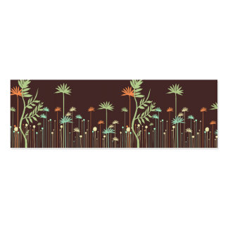 Modern Flowers Mommy Calling Card Pack Of Skinny Business Cards