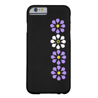 Modern Flowers Purple And White Barely There iPhone 6 Case