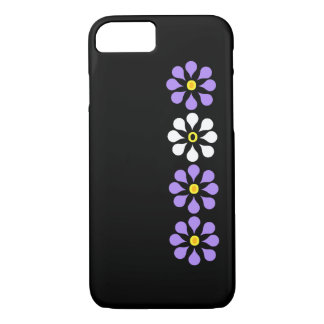 Modern Flowers Purple And White iPhone 8/7 Case