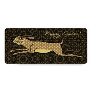Modern Folk Art Running Hare Custom Easter Card