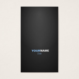 Modern font in two colors with business card