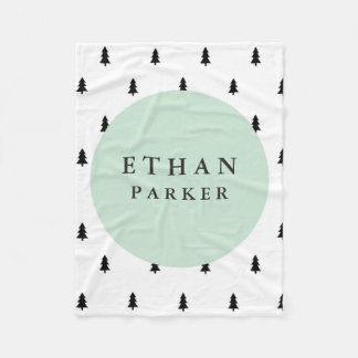 Modern Forest Fleece Blanket