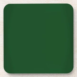Modern Forest Green Customizable Coaster