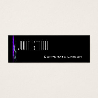 Modern Fountain Blue Skinny Business Cards