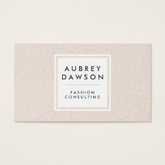 Modern Fractured Pattern Beige Business Card