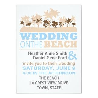 Modern Fun Beach Wedding Theme Invitations