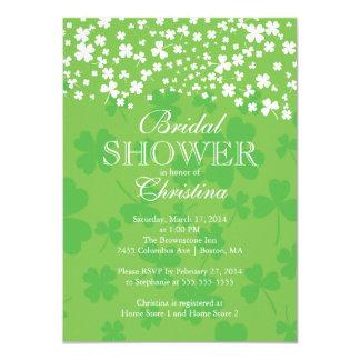 Modern Fun Irish Shamrock Bridal Shower 11 Cm X 16 Cm Invitation Card