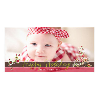 Modern Fun Red Christmas Tree Holiday Photo Card