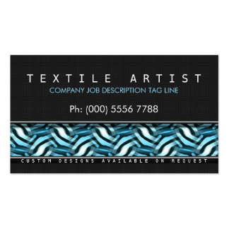 Modern Funky Abstract Blue Black Business Cards