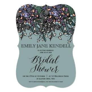 Modern Funky Floral Bridal Shower Design Card