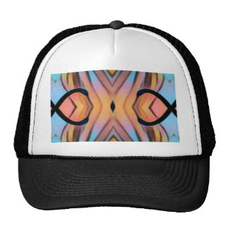 Modern Funky Neutral Pastel Abstract Pattern Cap