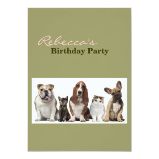 Modern funny cute pet lover card