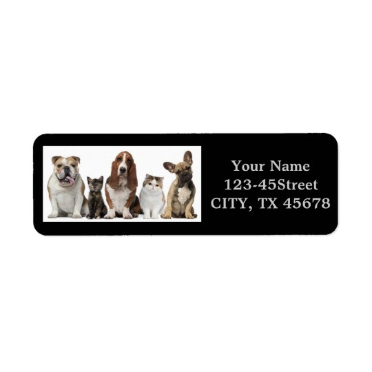 Modern funny cute pet lover return address label