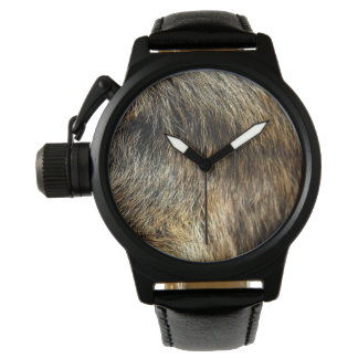 Modern Fur Black Leather Watch