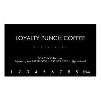Modern Futura Loyalty Coffee Punch-Card Business Card Template
