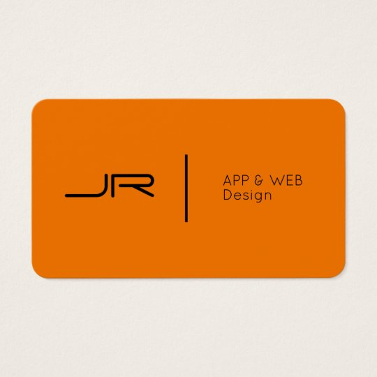 Modern future logo style orange black business card