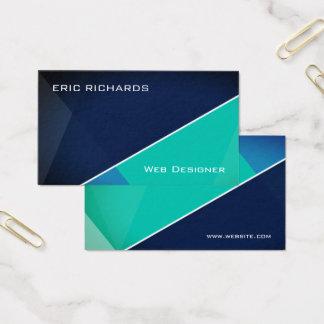 Modern futuristic blue green business card