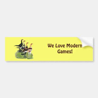 Modern Game Quartet Bumper Sticker