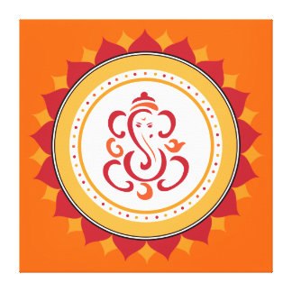 Modern Ganesha Wrapped Canvas Wall Art Canvas Print