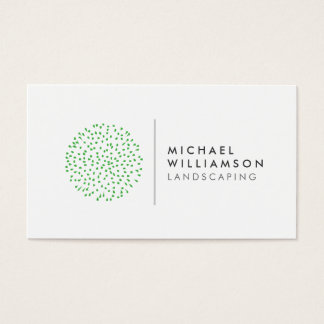 Modern Gardener Landscaping Logo on White