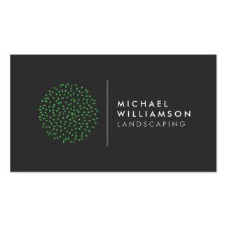 Modern Gardener Landscaping Logo Pack Of Standard Business Cards