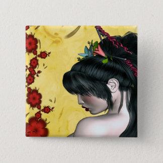 Modern Geisha 15 Cm Square Badge