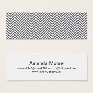 Modern generic elegant chevron zigzag personal mini business card