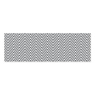 Modern generic elegant chevron zigzag personal pack of skinny business cards