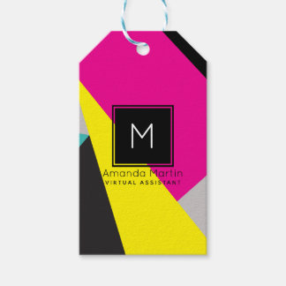 Modern Geo Colors Gift Tags