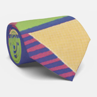 Modern Geo in Grape and green Tie