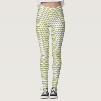 Modern geo - soft olive leggings