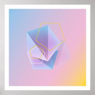 Modern Geometric Abstract Art Poster