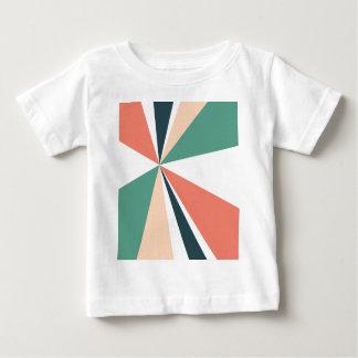 Modern Geometric Art Retro Color Burst Baby T-Shirt