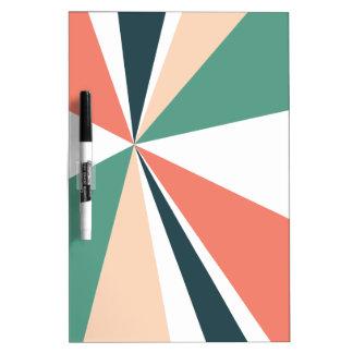 Modern Geometric Art Retro Color Burst Dry Erase Board