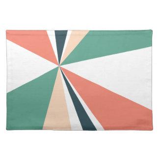 Modern Geometric Art Retro Color Burst Placemat
