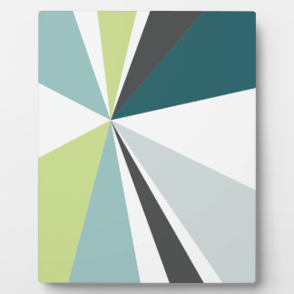 Modern Geometric Art Retro Color Burst Plaque