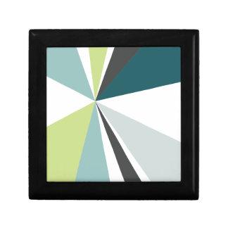 Modern Geometric Art Retro Color Burst Small Square Gift Box