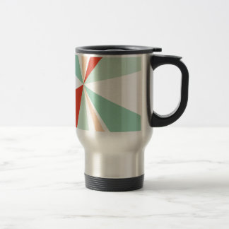 Modern Geometric Art Retro Color Burst Travel Mug