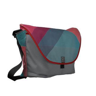 Modern Geometric blocks messenger bag, purse Commuter Bag