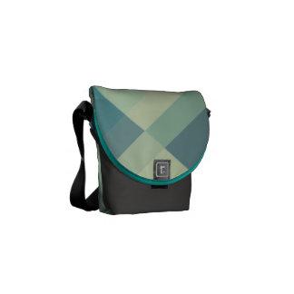 Modern Geometric blocks messenger bag, purse mini Courier Bag
